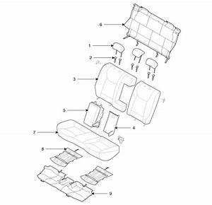 Hyundai Elantra  Rear Seat  Components And Components