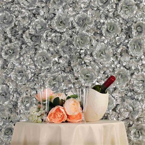 4 Pack 11 Sq ft UV Protected 3D Silver Silk Rose