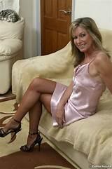 Mature ladies in silk stockings