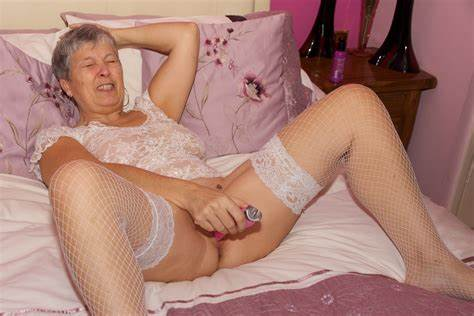Grandma And Her Vibrator Daddy Nailed Uncensored