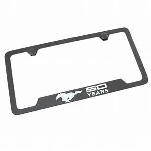 Ford Mustang License Plate Frame With 4 Holes (Black) - Walmart.com - Walmart.com