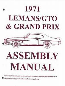 Assembly Manual W   Factory Instruction Guide  1971 Pontiac