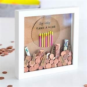 Bilderrahmen Zum Basteln : geldgeschenk in der 3d bilderrahmen spardose tipps ~ Watch28wear.com Haus und Dekorationen
