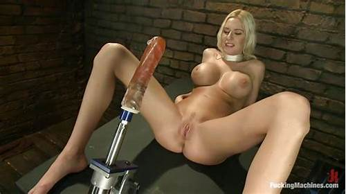 Blond Bdsm Hogtied For Deepthroat And Cunts Toying