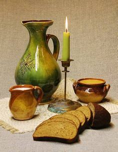 Clay pitcher, Rucava region, Latvia.   Traditional Baltic ...