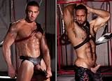 Gay muscle men in leather