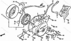 Honda Atv 1986 Oem Parts Diagram For Left Crankcase Cover