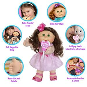 "Amazon com: Cabbage Patch Kids 14"" Kid Girl Doll Comes"
