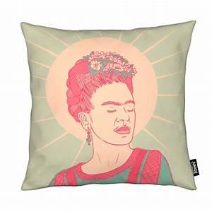 Frida Kahlo Kissen : frida als kissen von linda van bruggen juniqe ~ One.caynefoto.club Haus und Dekorationen