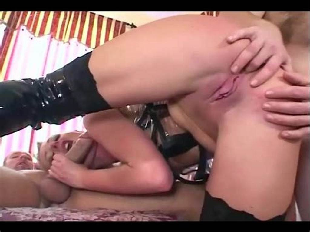 #Double #Penetration #In #A #Corset #Stockings #And #Boots