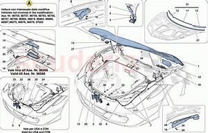 Ferrari 458 Italia Front Lid And Opening Mechanism Parts