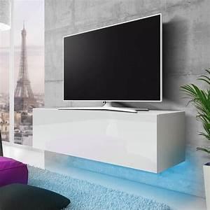 Meuble Tv Suspendu But : meuble suspendu blanc laque achat vente meuble suspendu blanc laque pas cher les soldes ~ Teatrodelosmanantiales.com Idées de Décoration