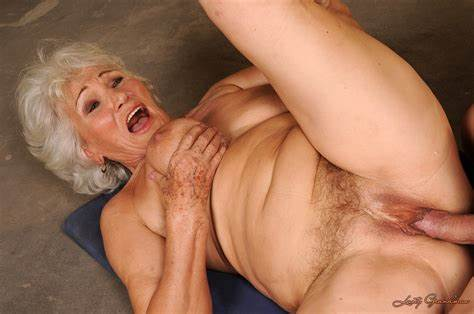 Granny Nasty Interracial Ass Having Grandma