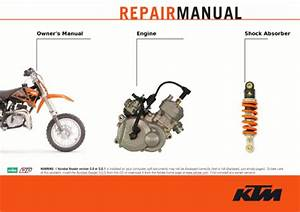 Official 2002-2008 Ktm 50 Ac Lc Repair Manuals
