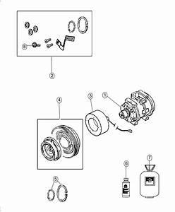 Dodge Durango Compressor  Air Conditioning   Rear Air