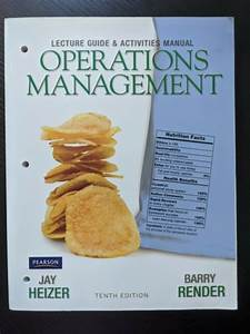 Lecture Guide And Activities Manual For Operations