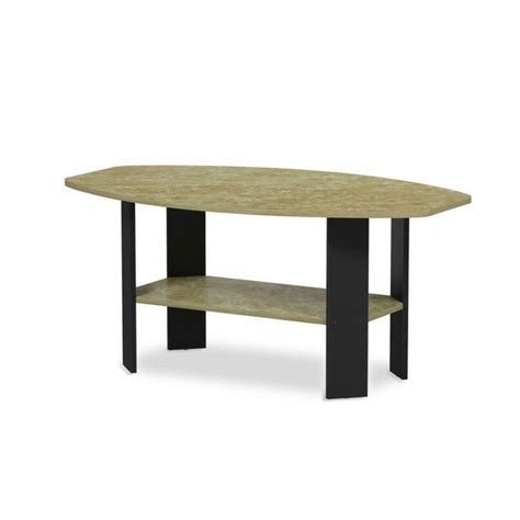 Top rated living room table sets. FURINNO Simple Design Coffee Table, Brown Faux Marble/Black