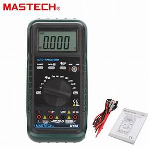 Mastech My68 Handheld Lcd Auto  Manual Range Dmm Digital