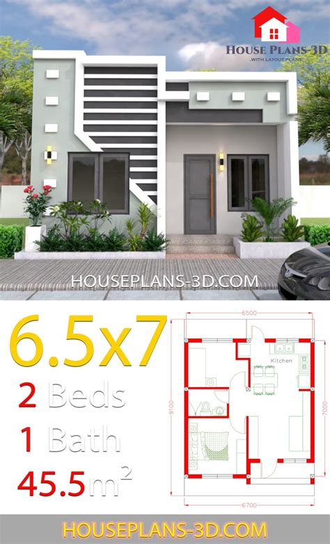 Small House Design 6 5x7 with 2 Bedrooms full plans