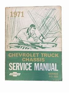 1971 Truck Chassis Service Manual Overhaul Guide Book