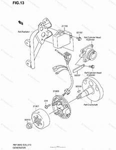 Suzuki Motorcycle 2003 Oem Parts Diagram For Generator