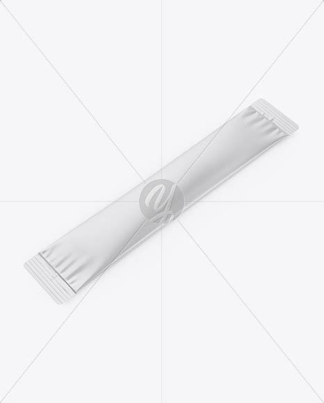 An ultra high resolution photorealistic pouch / sachet mockup shipped with several customizations. Matte Stick Sachet Mockup - Half Side View in Sachet ...