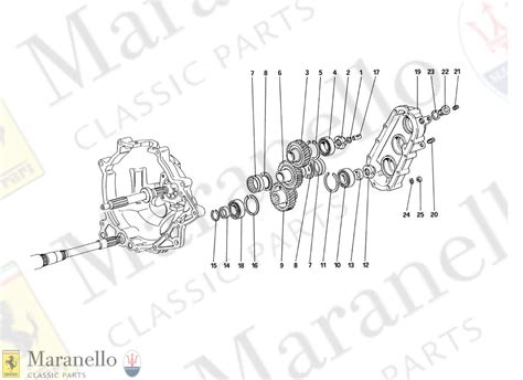 Let us resolve all of your transmission problems. 024 - Gearbox Transmission parts diagram for Ferrari 328 ...