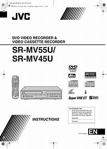 Jvc Sr Mv45u Users Manual Mv55u  Sr