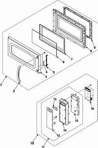 Samsung Smh7174bc  Xaa Microwave  Hood Combo Parts