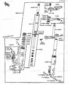 Kawasaki Motorcycle 1983 Oem Parts Diagram For Front Fork