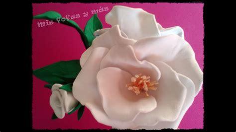 FLORES DE GOMA EVA ***ROSA SILVESTRE*** YouTube