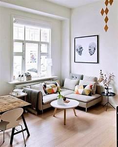 amenager un petit salon cote maison With tapis de souris personnalisé avec canape d angle 3 places meridienne