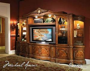 Cortina traditional wall unit large tv entertainment for Traditional wall units