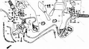 Honda Scooter 1987 Oem Parts Diagram For Handle Switch
