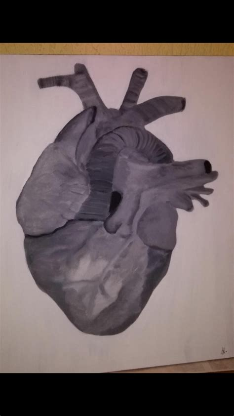 Corazón de piedra cuadro original Acrílico sobre Tabla