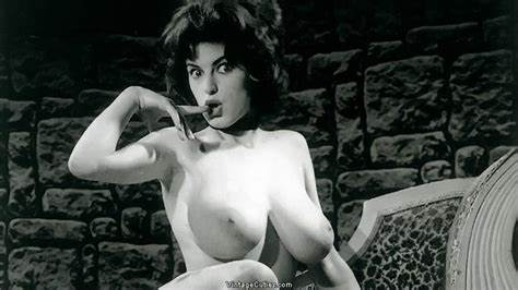 Vintage Four Gorgeous Strong Boob Cutie