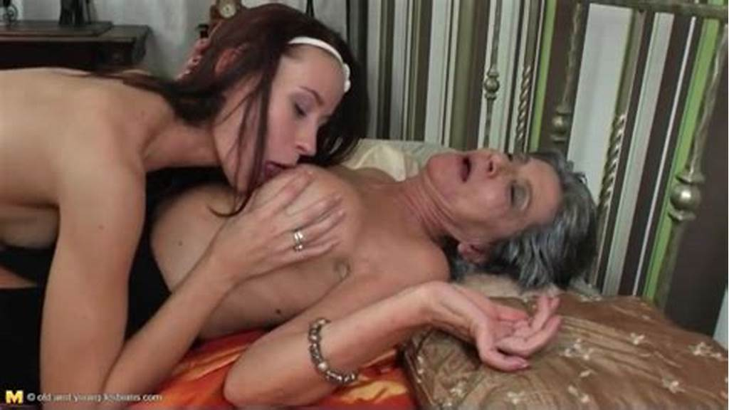 #Beautiful #Skinny #Teen #Sucks #On #Granny #Titties