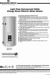 Bradford White Corp Ld 12ut3 1 Users Manual 15808 251b 1005 5
