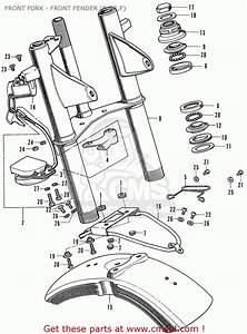 Honda St70 Dax France Front Fork - Front Fender  B De F  - Buy Front Fork