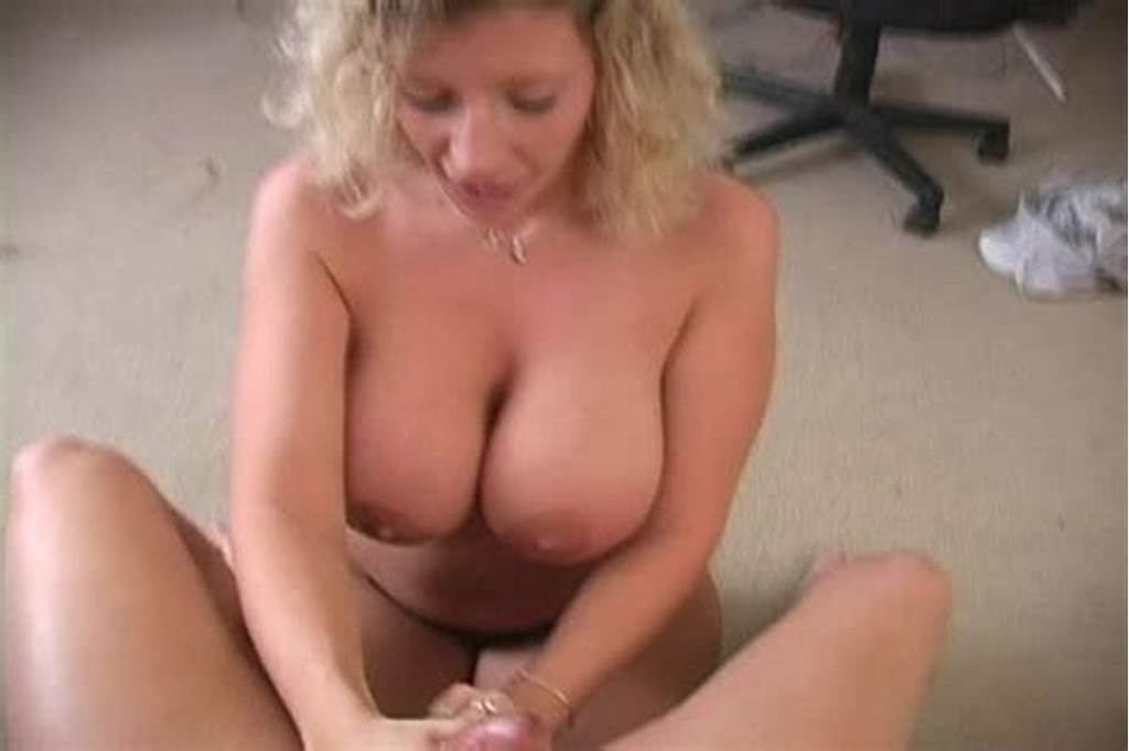 #Blonde #Babe #With #Huge #Melons #Stroking #Thick #Cock