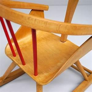 Chaise A Bascule Enfant : chaise bascule pour enfant en h tre dition baumann 1960 design market ~ Teatrodelosmanantiales.com Idées de Décoration