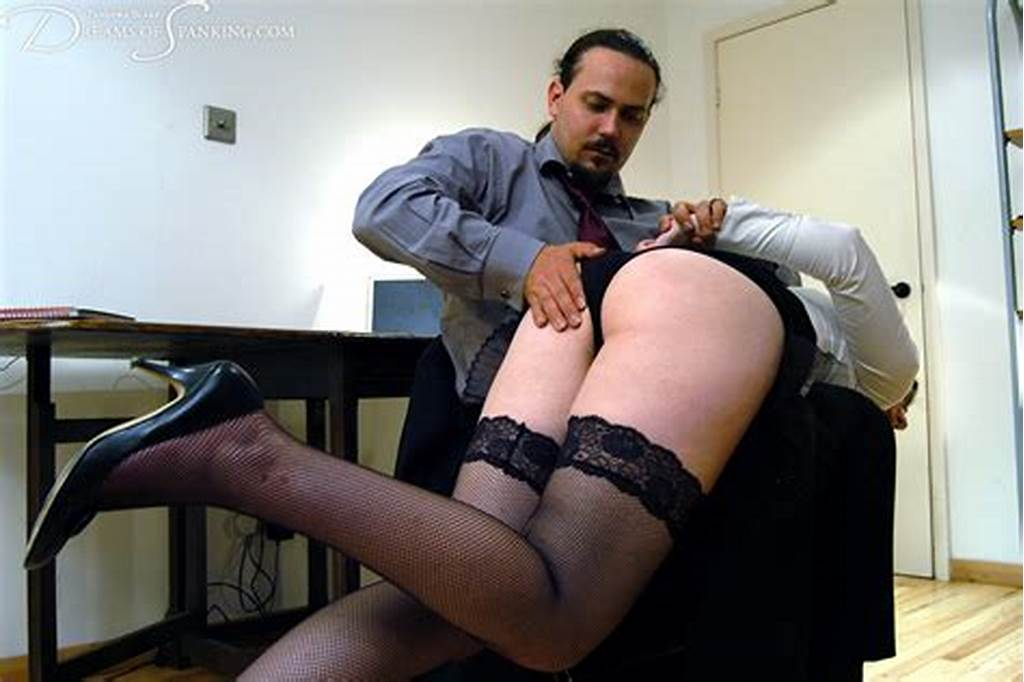 #Over #The #Boss' #Knee #At #Dreams #Of #Spanking