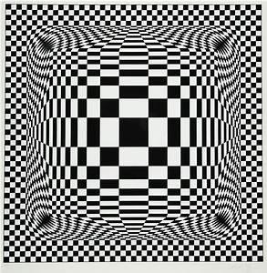 Damier Noir Et Blanc : damier noir et blanc by victor vasarely on artnet ~ Dallasstarsshop.com Idées de Décoration