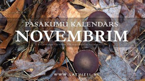 Pasākumu kalendārs novembrim - Latvieši NL