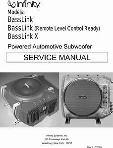 Infinity Bass Link Users Manual Basslink2 Om