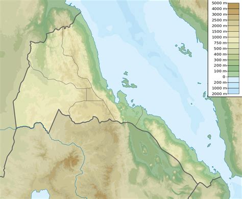 Ģeogrāfiskā karte - Eritreja - 851 x 699 Pikselis - 307.73 ...