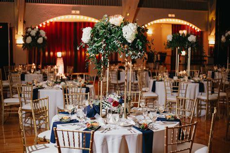 Traditional romantic wedding reception decor hanging