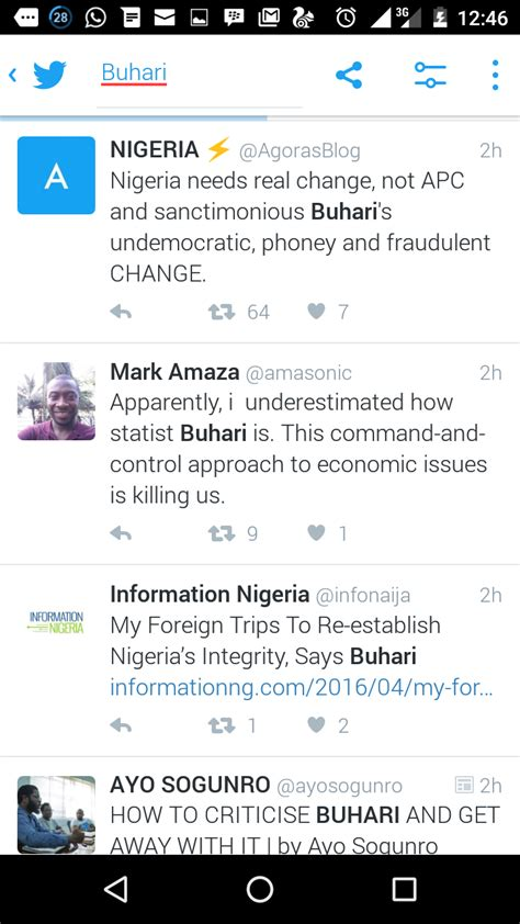 Последние твиты от predisent buhari (@thembuhari). Buhari Trending On Twitter, Read Reactions From Nigerians - Politics - Nigeria