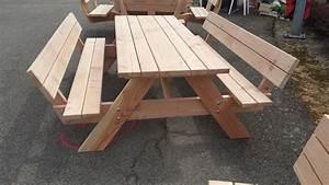 Table Picnic Bois Pas Cher : table picnic confort table de jardin pas cher ~ Melissatoandfro.com Idées de Décoration