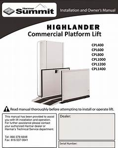 Harmar Mobility Highlander Cpl1000 Users Manual Cpl Install